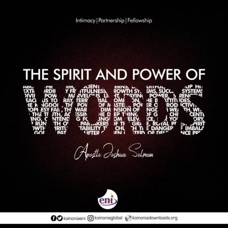 Download Koinonia Messages - The Spirit and Power of Words-Koinonia with Apostle Joshua Selman Nimmak