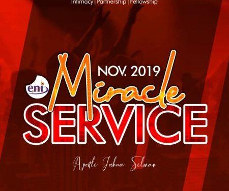 Download Sermon: November Miracle Service – Koinonia 2019   Apostle Joshua Selman